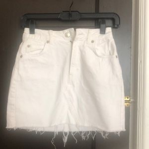 00 WHITE DENIM Skirt TOPSHOP